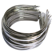 Width 4.5mm to 5mm Head Bands Metal Steel White K Color Hair Bands Hairwear Base Setting Bijoux De Tete DIY Jewelry For Women(China)