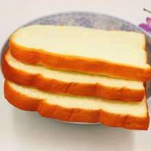 1PCS Jumbo Squishy Sliced Toast Toy Mobile Phone Strap Soft Bread Scented Funning Hand Pillow Gift Home Kitchen Decor