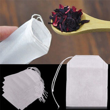 100 pcs Empty Teabags String Heat Seal Filter Paper Herb Loose Tea Bag Bar Kitchen supply drop shipping