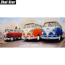 "New Full Square Diamond 5D DIY Diamond Painting ""Big car"" Embroidery Cross Stitch Rhinestone Mosaic Painting Home Decor Gift"