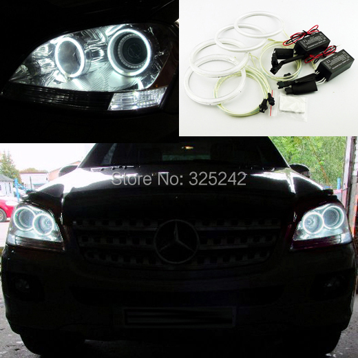For Mercedes-Benz M-Class W164 2005-2011 Excellent Ultra bright headlight illumination CCFL Angel Eyes kit Halo Ring angel eyes<br><br>Aliexpress