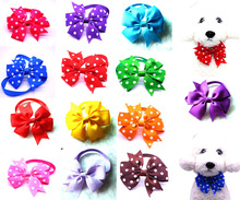 50pcs Dot Style Dog Bow Ties Pet Necktie Solid Designs Pet Bowtie Collar Pet Puppy Dog Ties Accessories pet  Grooming Supplies
