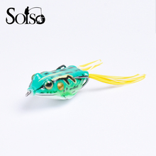 1pc 5.5cm/13g Fishing soft Frog Lures winter fishing Artificial rubber Bait Crankbait soft Lure swimbait Soft Wobblers 6 colors(China)