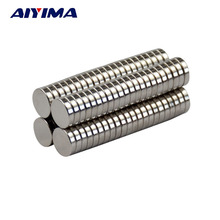 AIYIMA 100pcs Mini N35 8*2mm Round Disc Magnets 8mm*2mm Rare Earth Magnet NdFeB Strong Magnetic Magnetite Super Magnets 8x2(China)