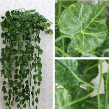 2.5m Artificial Ivy Leaf Garland Plants Vine Fake Foliage Flowers Home Decor Plastic Artificial Flower Rattan Evergreen Cirrus(China)