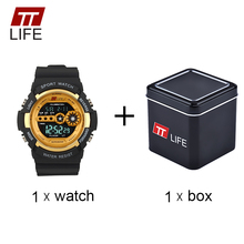 TTLIFE Men Military LED Display Analog Digital Watch Life Waterproof Business Alarm Sports Wristwatches Fashion Male Watch TS18
