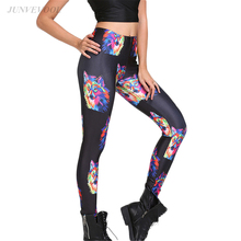 Buy Colorful Wolf 3D Leggings Workout Fitness Women Legging Gothic Black Pencil Pants Autumn Femme Sexy Slim Leggins Punk Sporstwear for $11.06 in AliExpress store