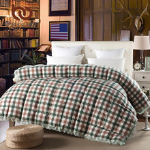 BeddingOutlet Plaid Quilt Plain Printed Lace Bedding Cool and Cozy Cotton Duvet Goose Down Comforter Twin Queen King