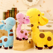 Stuffed animal toys 40cm kawaii lovely giraffe plush toys doll stuffed deer  toys for girls children birthday wedding gift