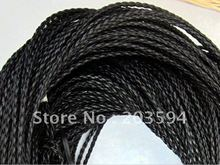 Wholesale 100meters black Braided cord Beading Cord Finding , Jewerly Cord,3MM
