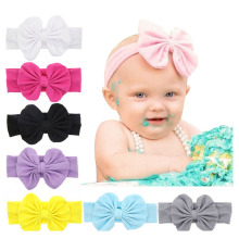 Kids Headwear Newborn Cotton Bow Hair Bands Kids Headband Stretch Turban Knot Head Wrap Hair Bands Hair Accessories kt017