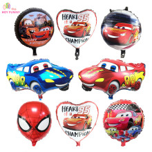 HEY FUNNY 5pcs Avengers foil Balloons Super Hero Baby Shower Toy Children Gift Birthday Party Decor Cartoon Car Foil Balloons(China)