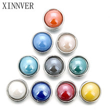 10pcs/lot Mix Color Snap Jewelry DIY 12MM Snap Buttons With Zinc Alloy Bottom for Snaps Bracelets fit Xinner snap Jewelry