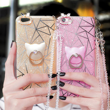 Luxury Bling Rhinestone Strap Diamond Case For BBK Vivo X7 Plus X9plus X9 Y55 Mobile Phone Case With Phone Stand Holder