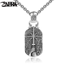 Thai silver 925 sterling silver pendant necklaces retro style high quality costume jewelry necklaces sword tag men gift