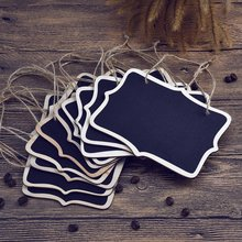 10pcs Mini Chalkboard Wedding Table Numbers Hanging Blackboard Double Sided Chalkboard Place Card Tag home party gift supllies(China)