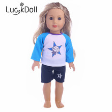New arriving Fashion sports jersey fit 18 inch American girl doll, Children best Birthday Gift (Only clothes)