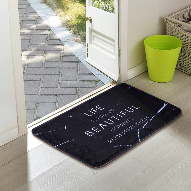 New Comfortable flannel non-slip granule door mat home bedroom kitchen anti-skid mat