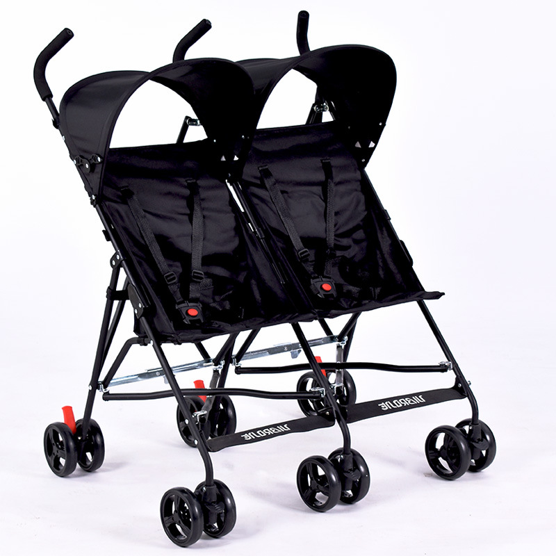 Travel Portable Double Stroller for Twins Folding Umbrella Baby Cart Double Strollers Twins Babies Umbrella Stroller Lightweight