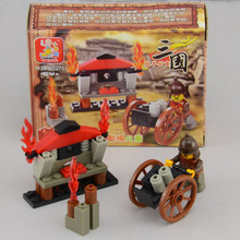 SLUBAN plastic toy gift building block mini Chinese ancient war army model 1set