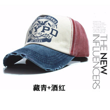 Fashion NYPD letters washed baseball caps do old woman edge grinding cap men outdoor sun bending along the sun hat