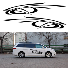 2 X Abstract Artistic Stripes Ribbon Rotating Flying Car Stickers for For Camper Van Door Side Kayak Canoe Vinyl Decal 10 Colors
