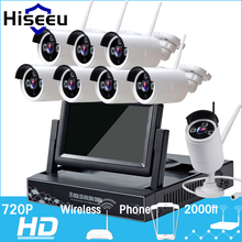 7 Inch Displayer 8CH 720P Wireless CCTV System Wireless NVR IP Camera IR-CUT Bullet Home Security System CCTV Kit Hiseeu