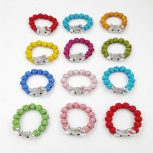 children's gift kid exclusive Hello Kitty Crystal Beads bracelets Gift manufacturer direct selling Fashion jewelry(China)
