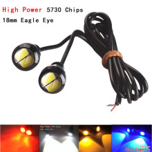 CYAN SOIL BAY 2PCS LED Eagle Eye White Daytime Running DRL Backup Light Fog Auto 12V 18MM 9W White Red Blue Amber Yellow(China)