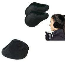 Women Men Winter Ear Warmers Behind The Ear Style Fleece Earmuffs