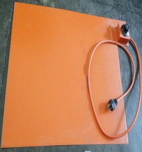 Silicone Heating Mat for Metal Plate 110v 3000w 618*815*1.5mm Flexible Silicone Rubber Heater 1000mm lead wire from 618mm side(China)