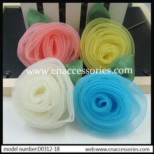 pretty wedding rose silk flower,5pcs/lot,width about 7.5cm,cream,pink,yellow,blue,can be mix color for 1 lot,handmade flower(China)
