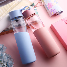 glass water bottle Leak-Proof Seal Large Capacity a Sport drinking coffee My travel Sports water bottle Creative Christmas gift