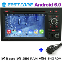 2 din android 6.0 Octa core car dvd for AUDI A4 2002 2003 2004 2005 2006 2007 S4 RS4 8E 8F B9 B7 RNS-E With Rear View Camera GPS