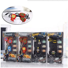 Cartoon Batman in-ear Earphone Headset Cute Batman Earphones Earbuds for iPhone Cellphone Mp3 for Android &iOS 3.5mm free ship(China)