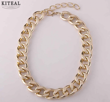 Big Chunky  Gold gun Three color Chain For Men Jewelry Wholesale 15MM 20MM Thick Stainless Steel Long Necklace