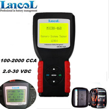 Professional Car Battery Tester LANCOL 12V battery Health Checker Analyzer Micro-468 Free Shipping(China)