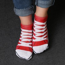 1 Pair Casual 3D Full Print Unisex Soft Breathable Shoes Socks Graphic Low Cut Ankle Multiple Colors Socks
