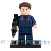 Single Sale Movie Star Trek Tactical Officer Enterprise SUPER HEROES STAR WARS minifig Model DIY Building Blocks Kids Toy Gift