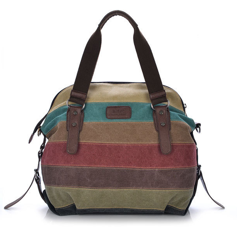 2017 Hot Fashion Women lady Handbags Vintage Striped Canvas Shopping Casual Shoulder Bag Messenger Bag Tote Free Shipping P172<br><br>Aliexpress