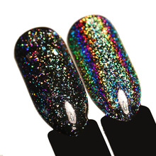 BORN PRETTY 0.2g/box Galaxy Holo Nail Flakes Bling Rainbow Laser Nail Art Sequins Holographic Glitter Powder Paillettes