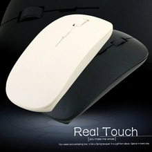 In stock! 1pc Laptop Computer PC Ultra Thin 2.4GHz USB Wireless Mouse Optical Mice Newest white / Black