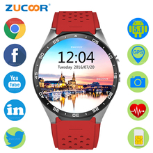 Smart Men Watch Quad-Core Android Reloj ZW77 Pedometer WiFi Clock Bluetooth Waterproof Wristwatch With Heart Rate Monitor Camera(China)