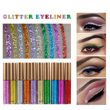 Liquid Eyeliner Makeup Shining Glitter Eyes Cosmetics Waterproof Long Lasting Gold Blue White Color Shimmer Eye Liner Make Up(China)