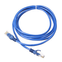 2M Cat 5 RJ45 Network LAN Cable UTP Male to Male Internet Ethernet Cable Patch Connector Cord Tools For PC Computer Laptop Blue