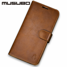 Musubo Luxury Flip Leather Case For iphone 8 Plus 7 Plus Cases 6s 6 5 5s SE Cover fit magnetic car holder for Galaxy S8Plus S8(China)