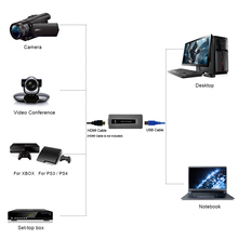 1080P USB3.0 Game audio video capture card, convert HDMI video to USB3.0 for windows. mac, linux support hdcp Free shipping