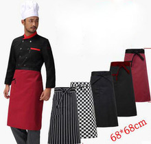 68*68cm chef half body pinafore  hotel restaurant kitchen chef apron  clothing costom logo worker waiter dress