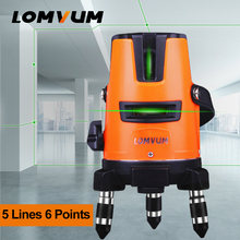 LOMVUM 5 Lines 6 Points green laser level horizontal vertical laser spirit level 360 rotation self level tripod(China)