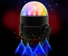 Mini RGB LED Crystal Magic Ball Stage Effect Lighting Lamp Bulb Party Disco Club DJ Light  auto sound active led usb light